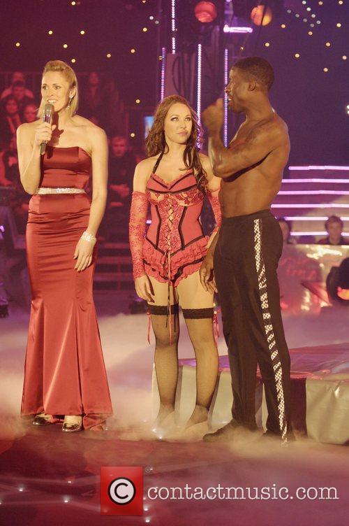 TV presenter Jenny Falconer and contestants Cirque de...