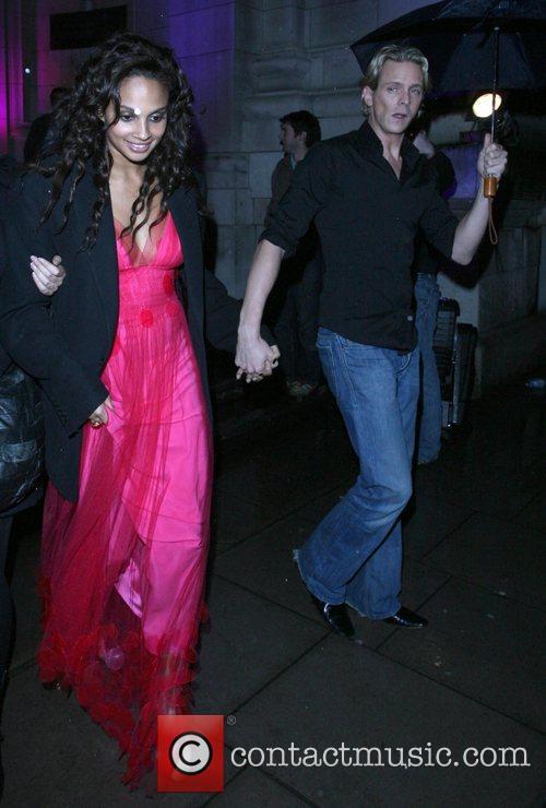 Alesha Dixon and Matthew Cutler leaving the Royal...