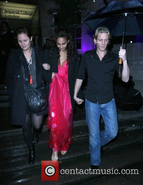Alesha Dixon and Matthew Cutler leaving the Royal...