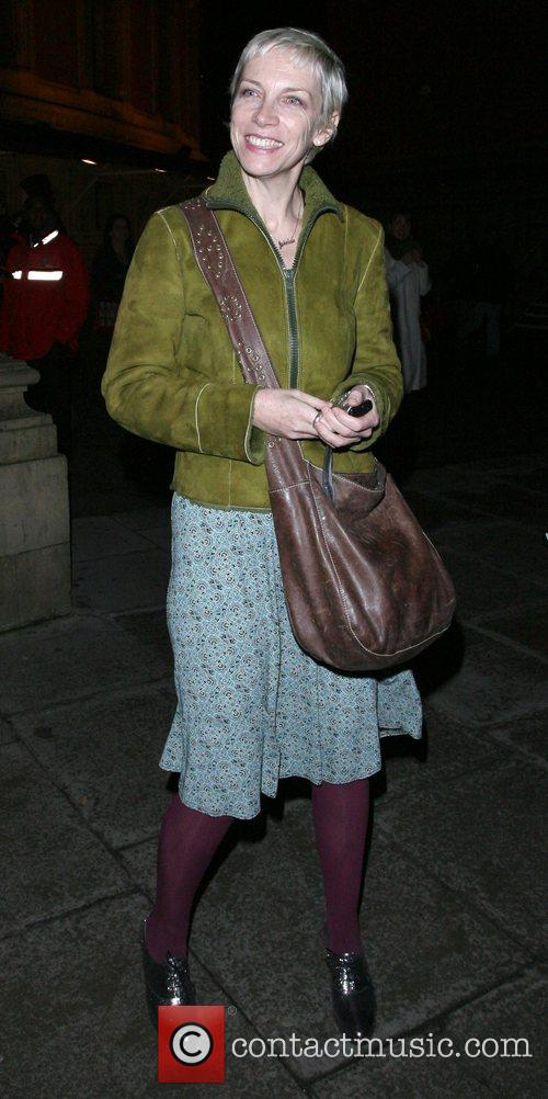 Annie Lennox leaving the Royal Albert Hall, after...