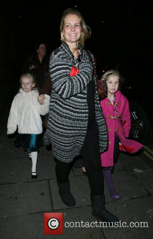 Ulrika Johnson and her daughter leaving the Royal...