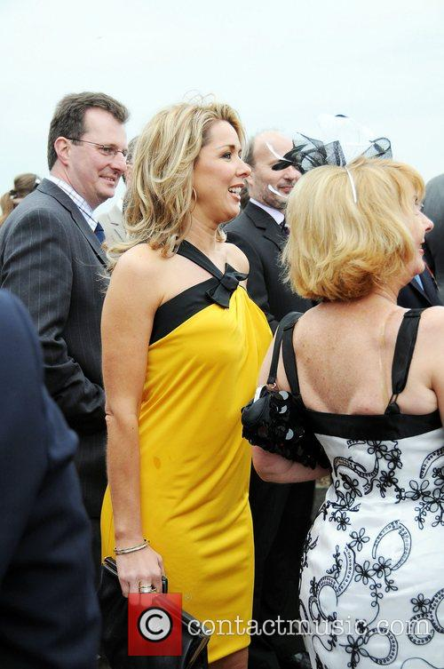 Claire Sweeney at Ladies Day at Aintree Racecourse...