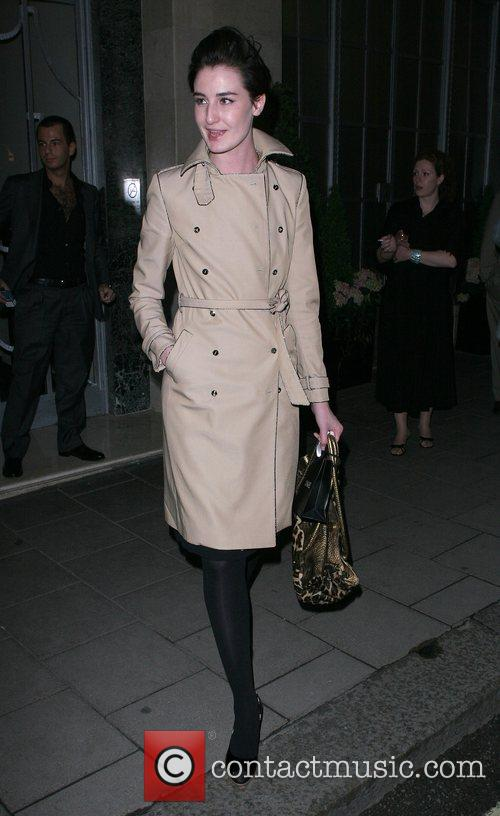 Erin O' Connor leaving Claridges Hotel