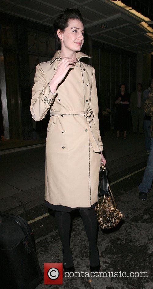 Erin O' Connor leaving Claridges hotel London, England