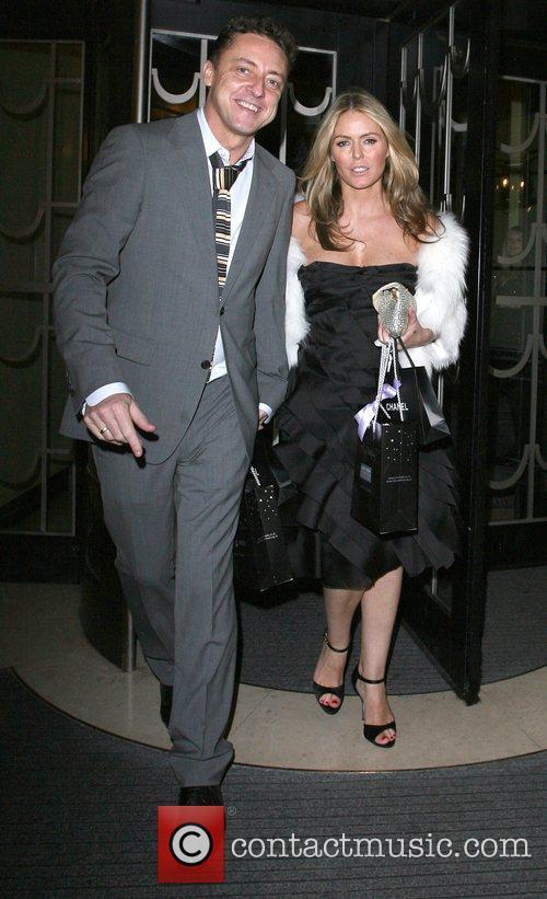 Jeremy Healy and Patsy Kensit leaving Claridges hotel