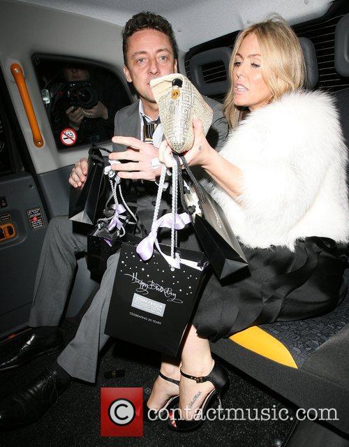 Jeremy Healy and Patsy Kensit leaving Claridges hotel...
