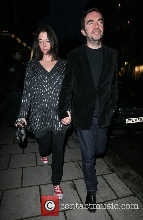 Mary McCartney and husband Alistair Donald leaving Claridges...