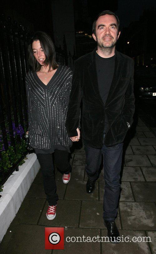 Mary McCartney and husband Alistair Donald leaving Claridges...