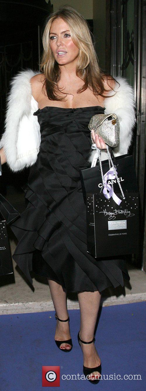 Patsy Kensit leaving Claridges hotel London, England