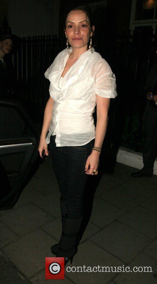Elen Rives arrives back at Claridge's London, England