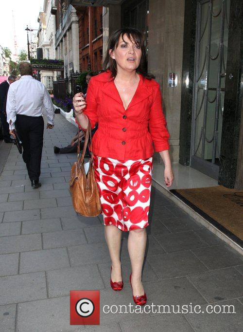 Lorraine Kelly leaves Claridges hotel London, England