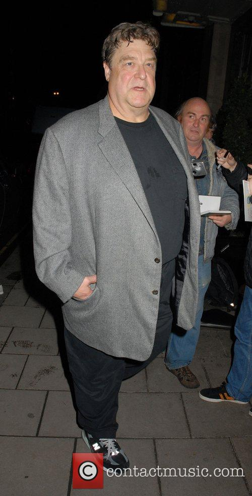 John Goodman arriving at Claridges. Although wearing dark...