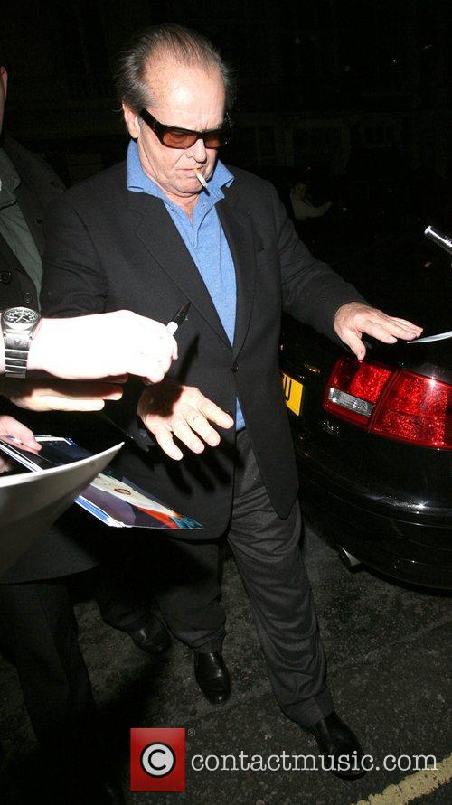 Jack Nicholson arriving back at Claridge's, at 1am