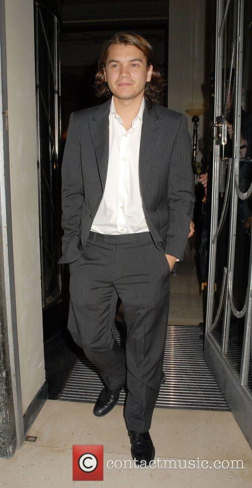 Emile Hirsch leaving Claridge's to go to the...