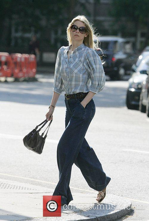 Claudia Schiffer after walking her son to school...