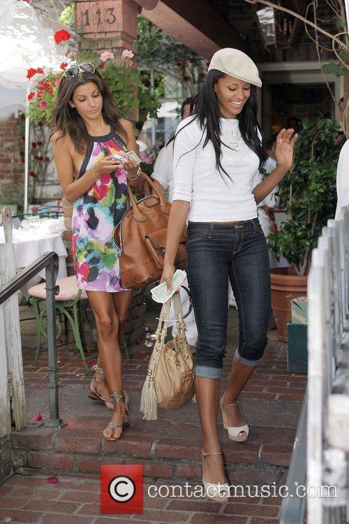 Claudia Jordan and Sonia Vera from TV game...