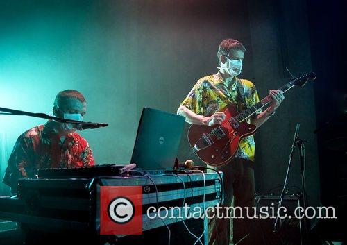 Ade Blackburn and Jonathan Hartley performing at Liverpool...
