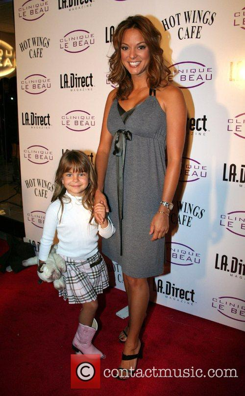 Eva LaRue and daughter Kaya Grand opening of...