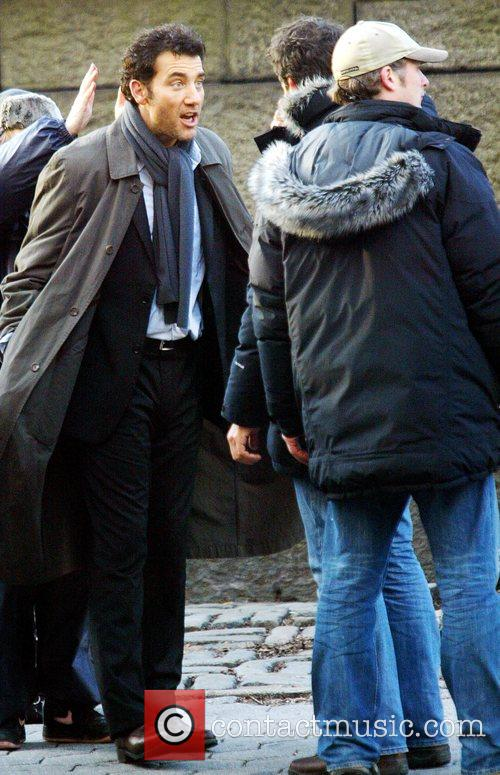 Clive Owen on the set of his new...