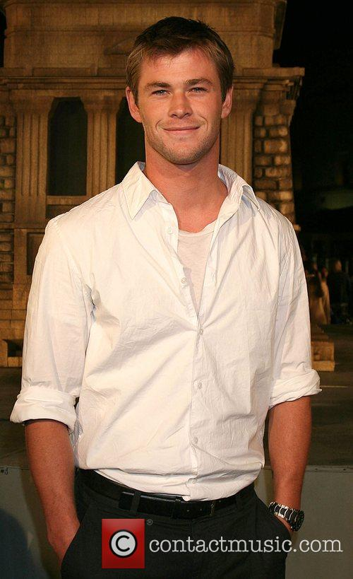 Chris Hemsworth Cloverfield Premiere held at Paramount Pictures...