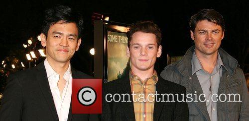 John Cho, Anton Yelchin, and Karl Urban Cloverfield...