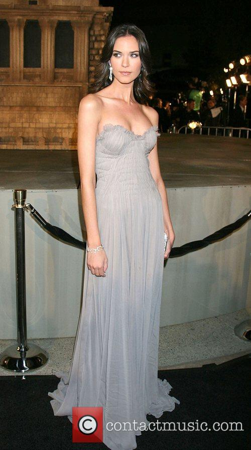 Odette Yustman Cloverfield Premiere held at Paramount Pictures...