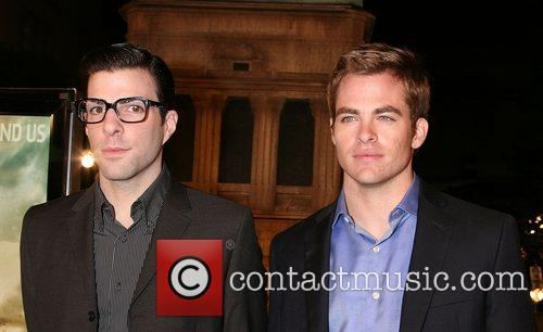 Zachary Quinto and Chris Pine Cloverfield Premiere held...