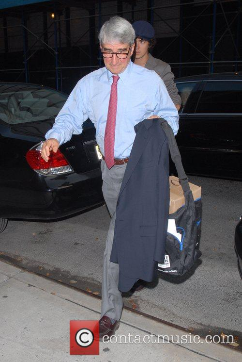 Sam Waterson arrives at Comedy Central Studios to...