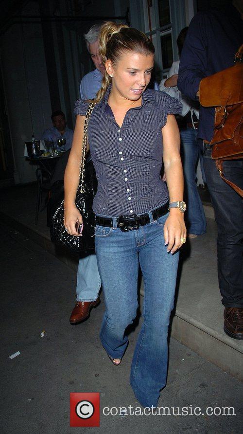 Coleen McLoughlin leaving Charlotte Street Hotel London, England