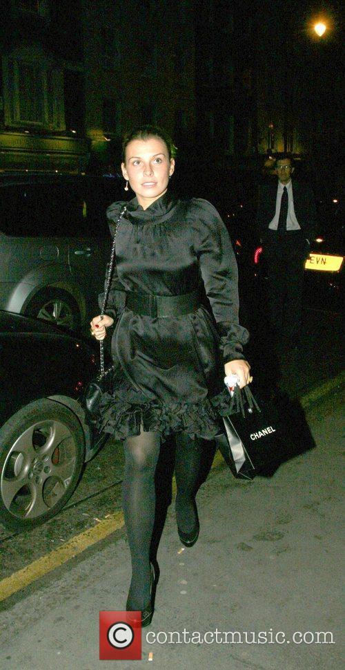 Coleen McLoughlin  arriving at Charlotte Street Hotel...
