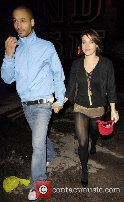 Leaving Davinia Taylor's brithday party held at The...