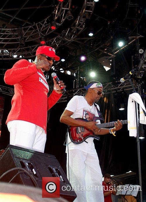 Sweet Micky and Dadou of Magnum Band performing...