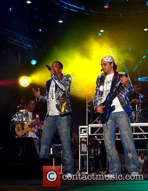 T-Vice performing on stage at the 10th Annual...