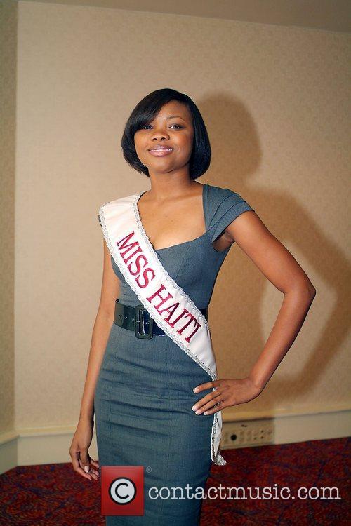 Miss Haiti International Michaelle Pierre Press conference for...