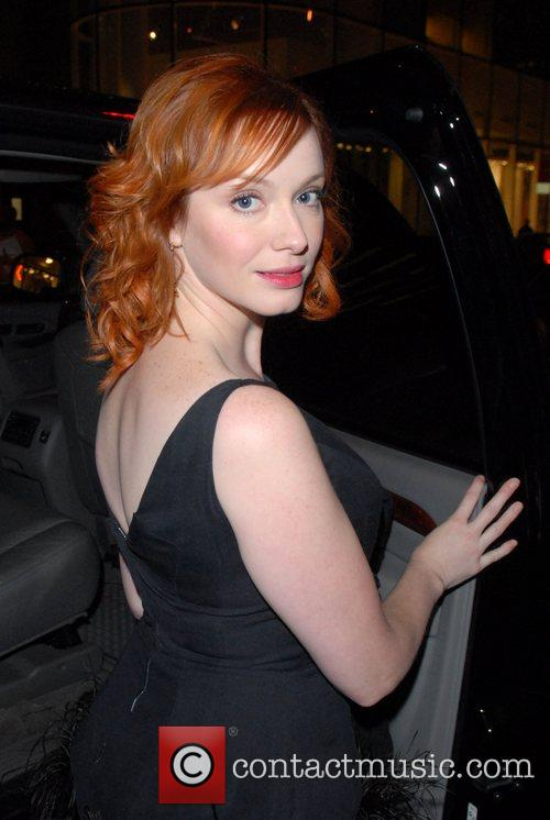 Christina Hendricks and Conan O Brien 1