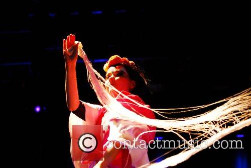 Bjork performing at the Connect Music Festival 2007...