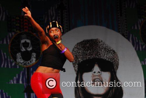 M.I.A aka Maya Arulpragasm performing at the Connect...