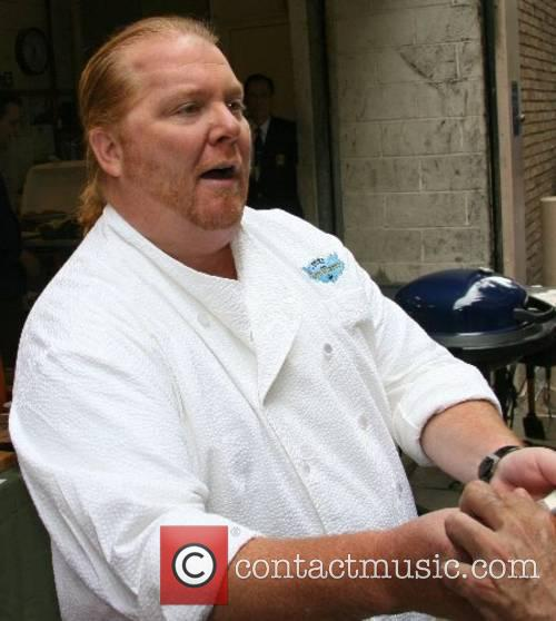 Chef Mario Batali at ABC Studios on the...