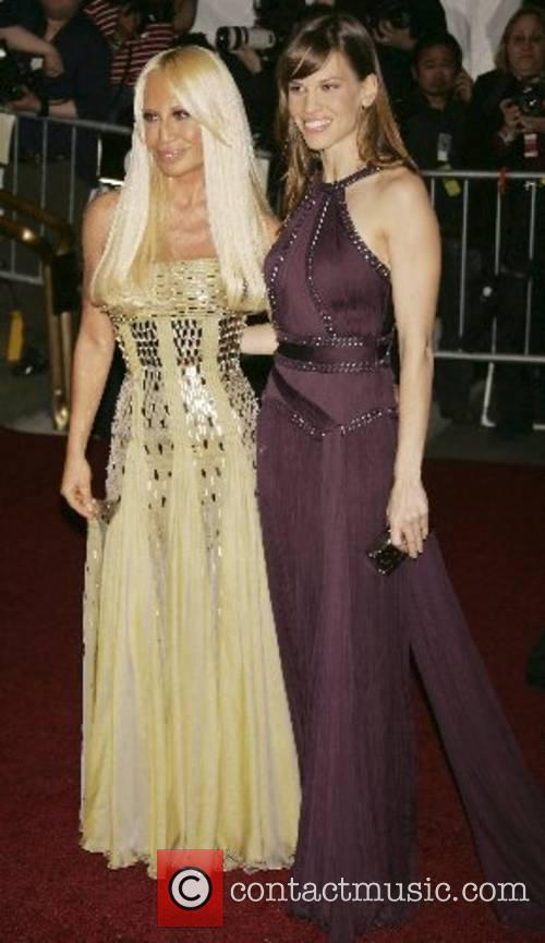 Donatella Versace and Hilary Swank 'Poiret: King of...