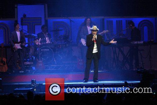 Molly Meldrum presenting the Countdown Spectacular at Acer...