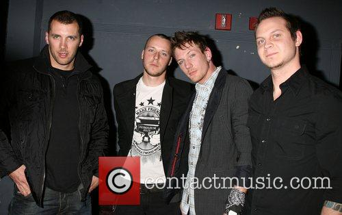 At the release party for their album 'Damaged'...