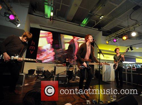 The Courteeners performing at HMV, Oxford Street London,...
