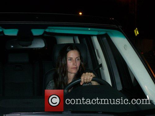 Courteney Cox leaving Il Sole restaurant Los Angeles,...