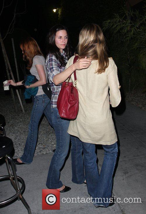 Courteney Cox leaving Jar restaurant Los Angeles, California