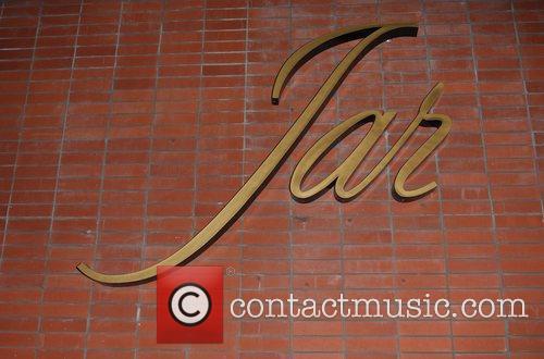 Jar restaurant exterior Courteney Cox leaving Jar restaurant...