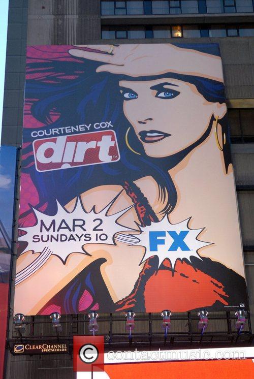 Courteney Cox billboard advertisement promoting 'Dirt' on Fx...