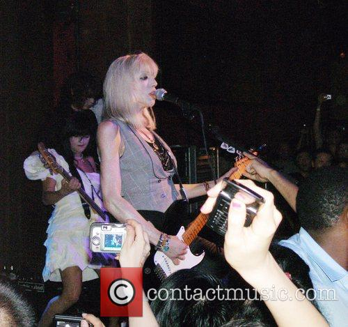 Courtney Love performing live at the Hiro Ballroom