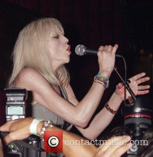 Courtney Love performing live at the Hiro Ballroom...