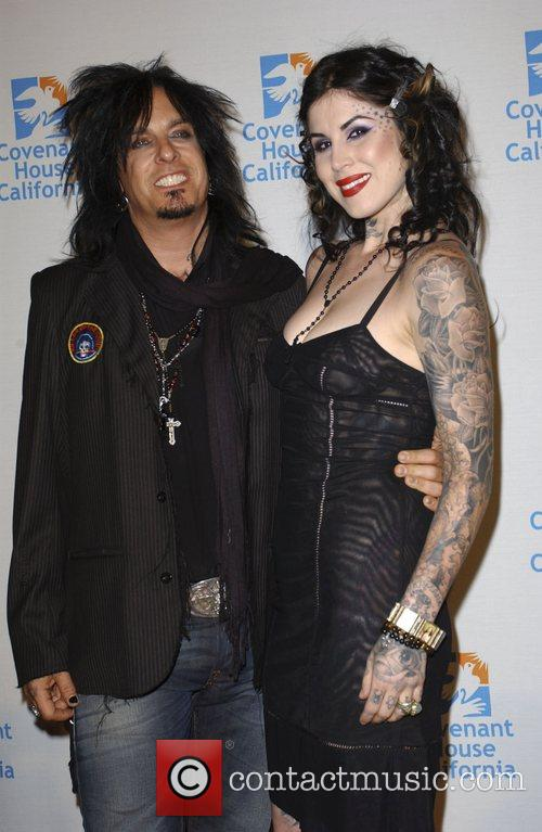 Nikki Sixx and Kat Von D 1
