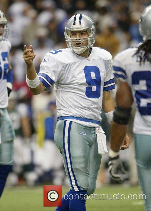 Dallas Cowboy quarterback Tony Romo is seen here...